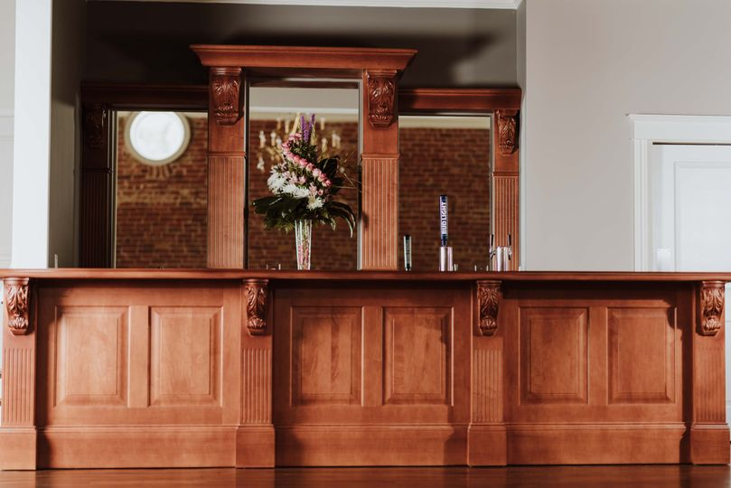 Front view of the bar