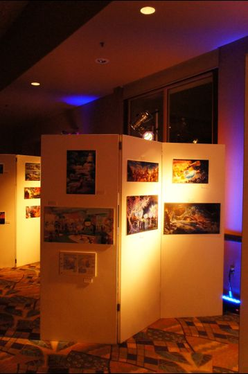 YES!  We do tradeshows and conventions. Lighting, displays, music, photobooths and pipe & drape.