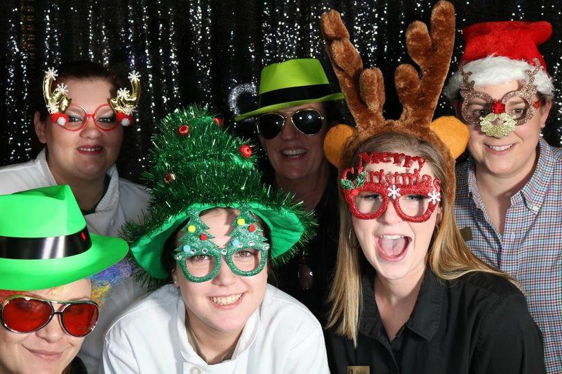 Christmas photo booth fun
