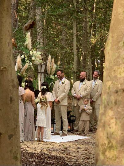 Ceremony in trees