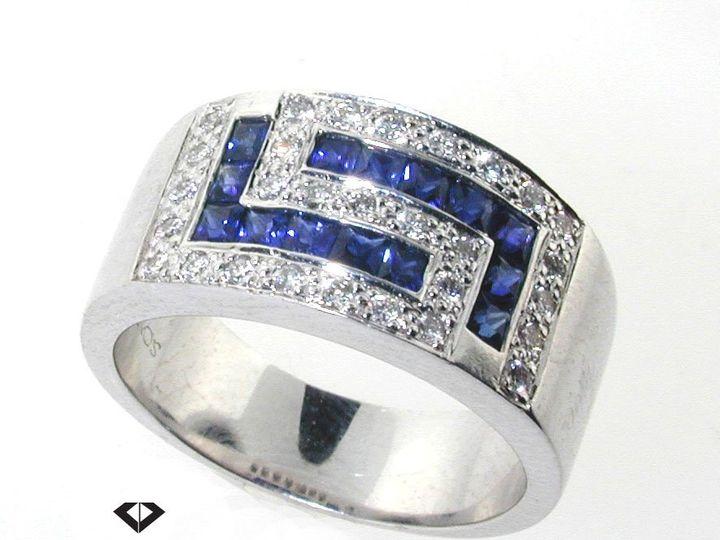 Tmx 1343092075595 SapphireandDiamondBand Irvine wedding jewelry