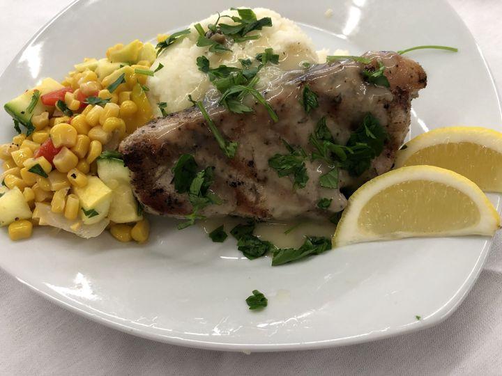 Pork chop piccata