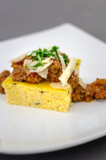 Polenta with bolognese