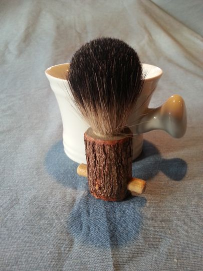 shaving brush w mug