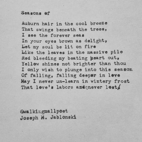 """Poem - """"Seasons Of"""""""