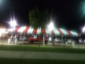 Red & white tent