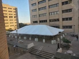 Sidewalk tent