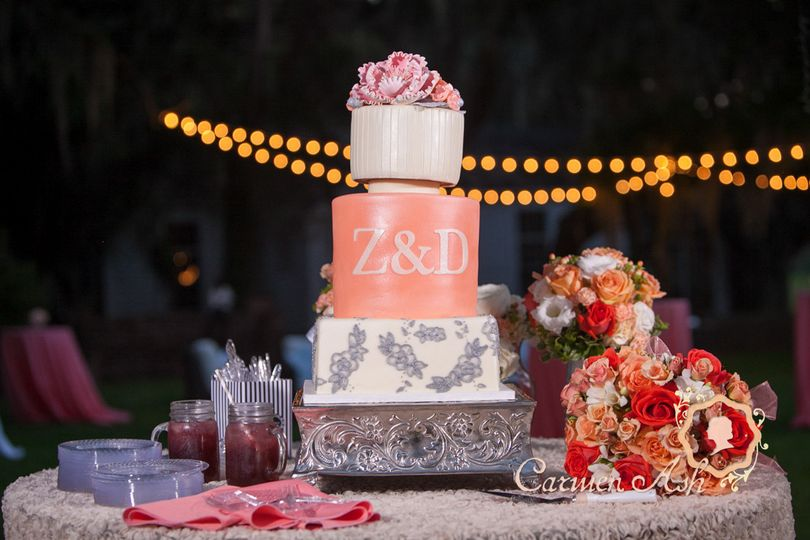 Z&D wedding cake