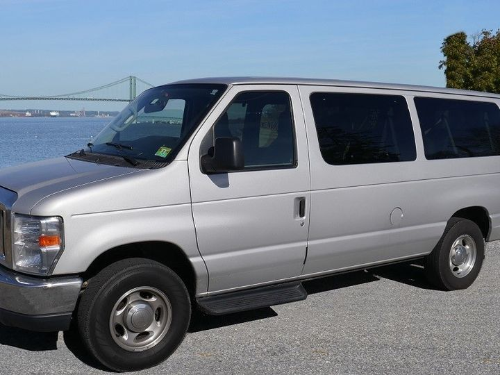 Tmx Riverfront 13passenger Silver Van Outside 51 33175 1567434628 Woodbury, NJ wedding transportation