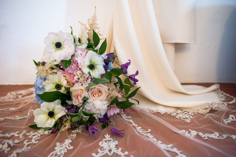 Blush,  Blue and Lilac