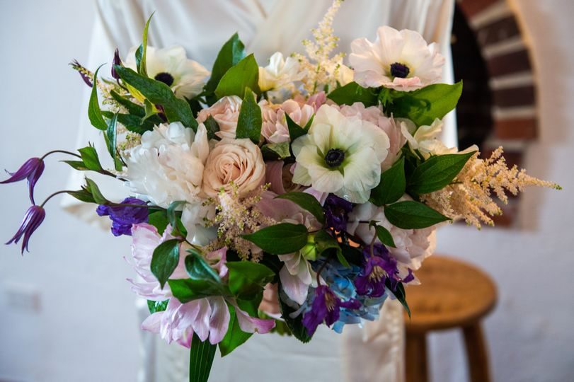 Blush,Blue lilac Bouquet