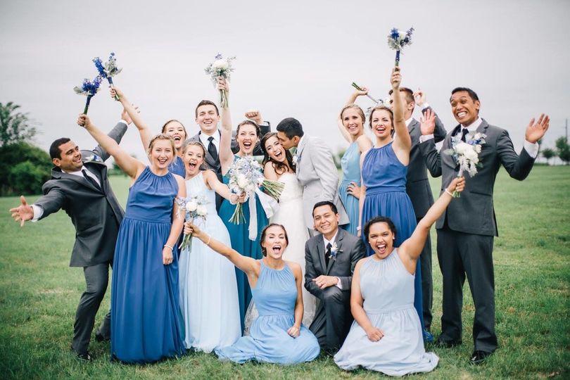 Joyful wedding photo