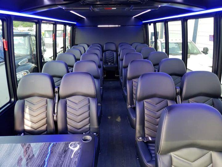 Interior of the mini bus