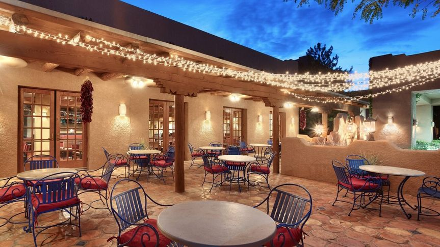Patio space outdoors