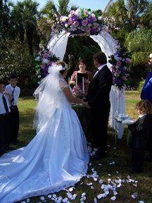 A garden wedding in Golden Gate Naples florida