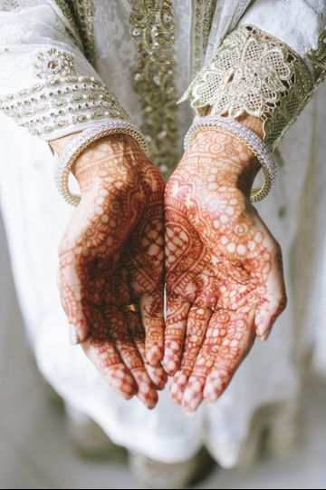 Bride's mehndi tattoo