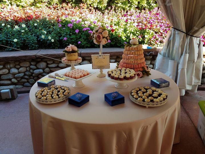 Dessert display at the Husdon Gardens event center, Littleton CO