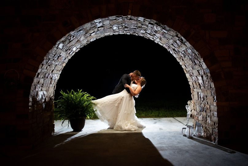 Nighttime under the arch
