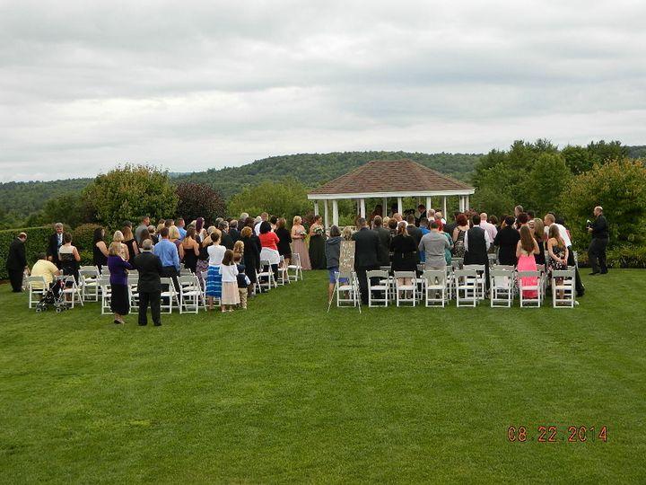 Becka & david's wedding ceremony venue at dell-lea country club