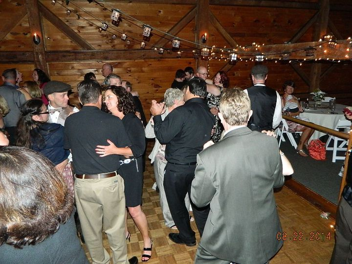Becka & David's guests enjoying dancing at Dell-lea Country Club.