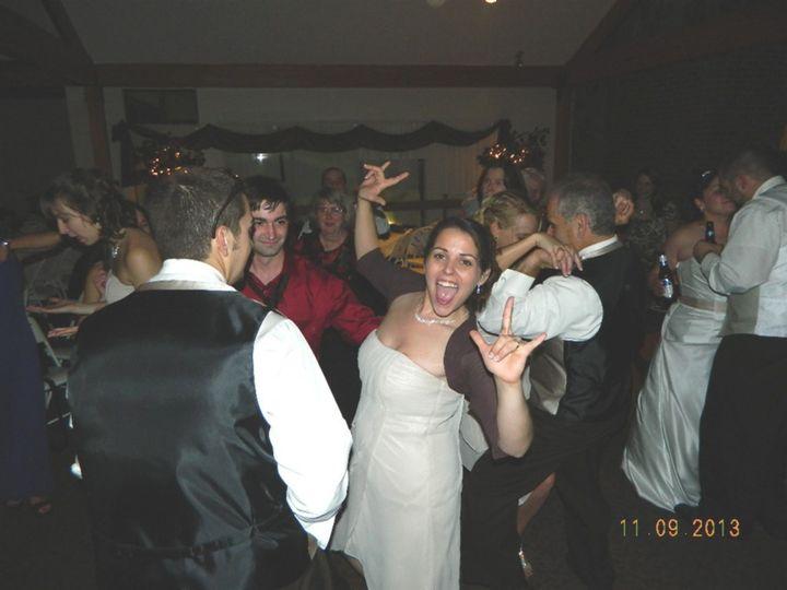 Guest dancing at reception held @ Summit Resort Inn Gilford NH. 9/12/2013