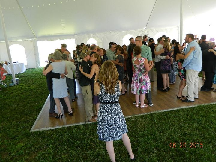 Outside wedding @ a Private home in Colebrook NH