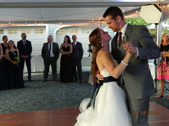 Ashley & zach first dance on their wedding day. Private home in moultonboro, nh