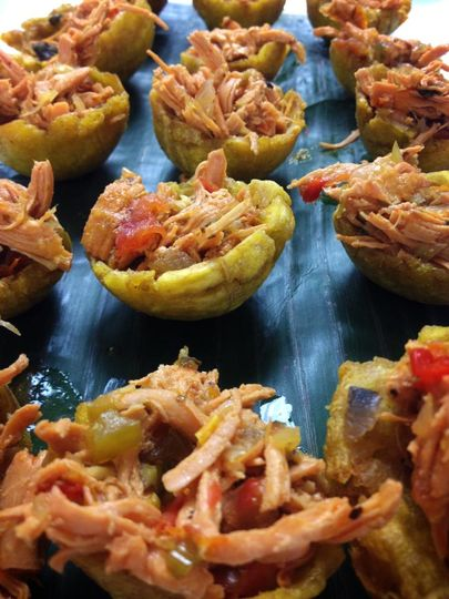 Tostones with Latin Chicken