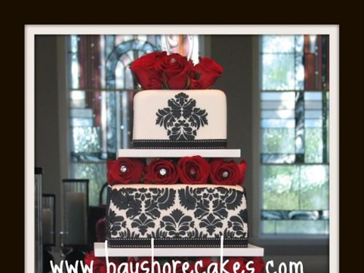 Tmx 1296609769327 3tierdamaskweddingcake Sandy wedding cake