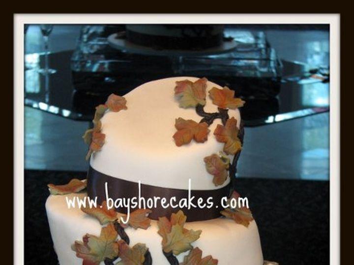 Tmx 1296609786155 Fallleaveswhimsicalweddingcake Sandy wedding cake