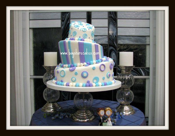 Tmx 1296609818514 Whimsicallightbluelavender Sandy wedding cake