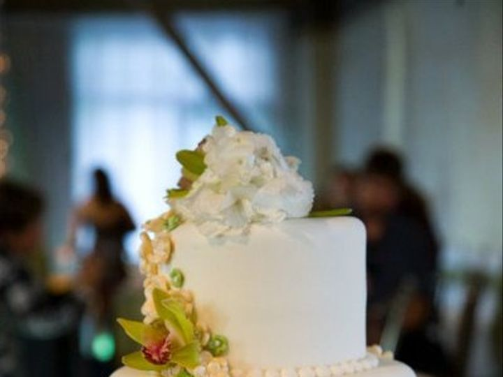 Tmx 1296609823030 Wrappedfondantflowersweddingcake Sandy wedding cake