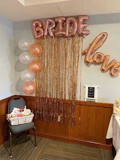 Bridal shower setup
