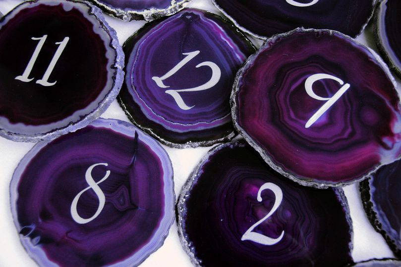 Violet table numbers