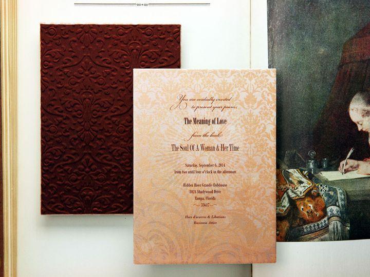 Tmx 1444748440803 Booklauncheventinvitationsembossedfabricsogladgirl Jasper, Indiana wedding invitation