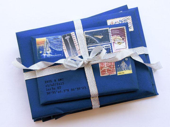 Tmx 1444748518307 Doctorwhoringbearersboxalternativeweddingceremonys Jasper, Indiana wedding invitation