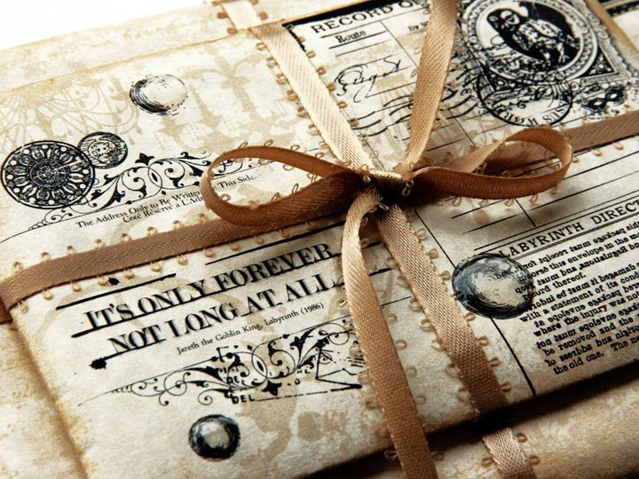 Tmx 1477941883440 Labyrinththemoviealternativeweddingringbearersbox7 Jasper, Indiana wedding invitation