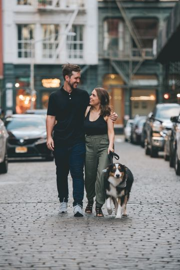 Brooklyn engagement shoot- dog