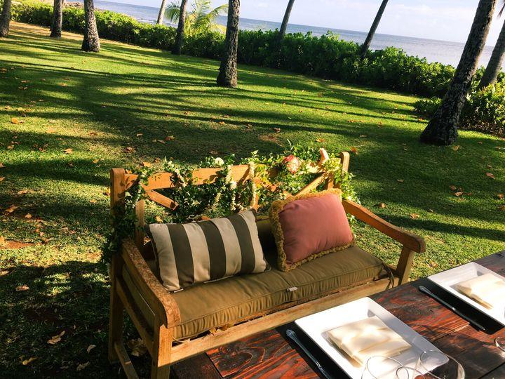 Boho Chic Outdoor Hawaiian Wedding. Venue Lanikohunua and wedding planning and coordination provided...