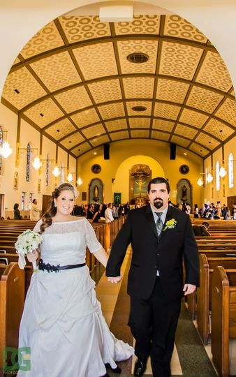 Jessica & Jason at Holy Trinity Catholic Church Photography by DG Photography.