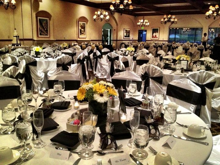 Linen Rental and reception set up by A Moment in Time Wedding & Events.