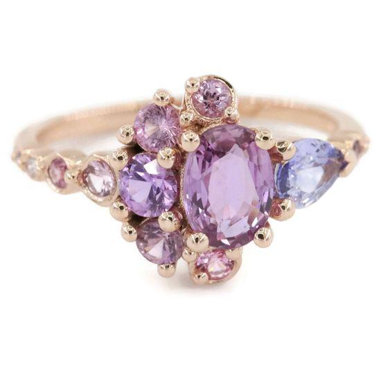 Rose gold cluster ring