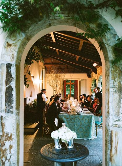 A romantic candle-lit dinner on the loggia concluded a dream wedding day