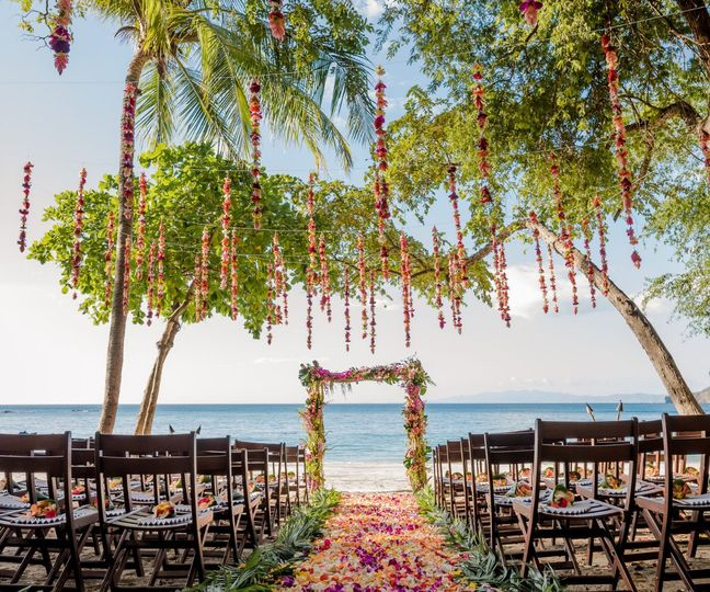 Gorgeous beach ceremony setting