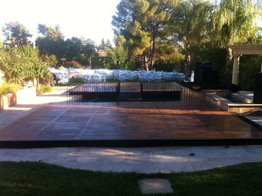 Dance FLoor Pool Cover Los Angeles Orange County San Diego