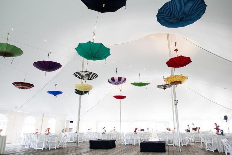 Umbrella decor at Hancock Shaker Village