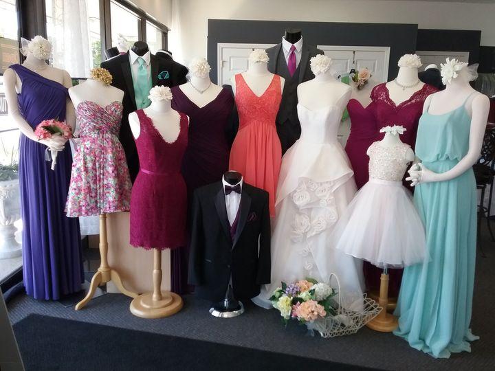 Displayed dresses