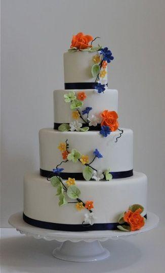 Floral inspired wedding cake