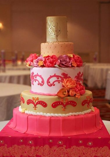 Pink themed cake