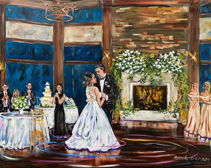 First Dance, oil on canvas 24x